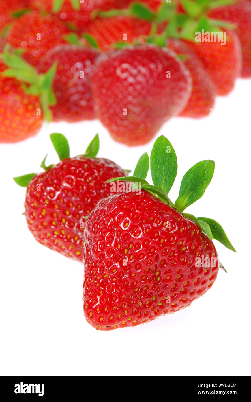 Erdbeere freigestellt - strawberry isolated 08 - Stock Image