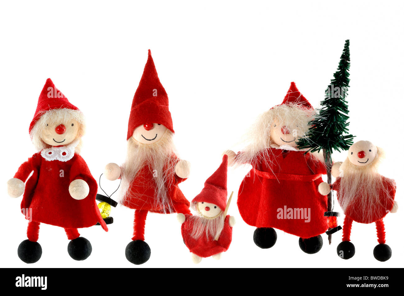 imp family as a symbol for christmas - Stock Image