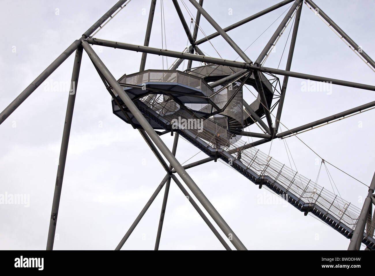Tetraeder in Bottrop, Ruhr Area, Germany - Stock Image