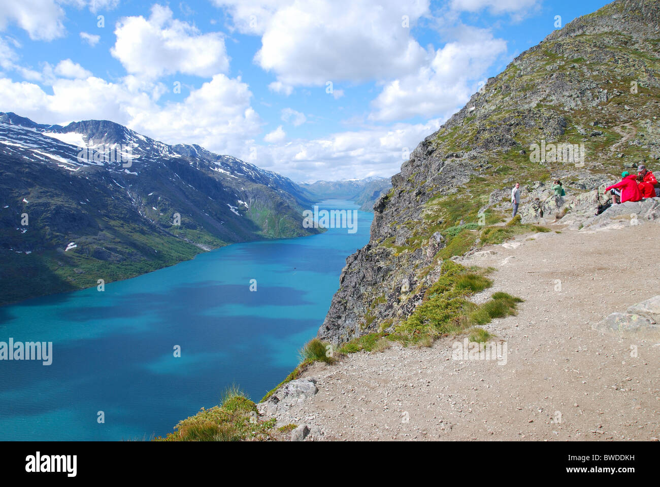 Hiking in the Norwegian mountains. - Stock Image