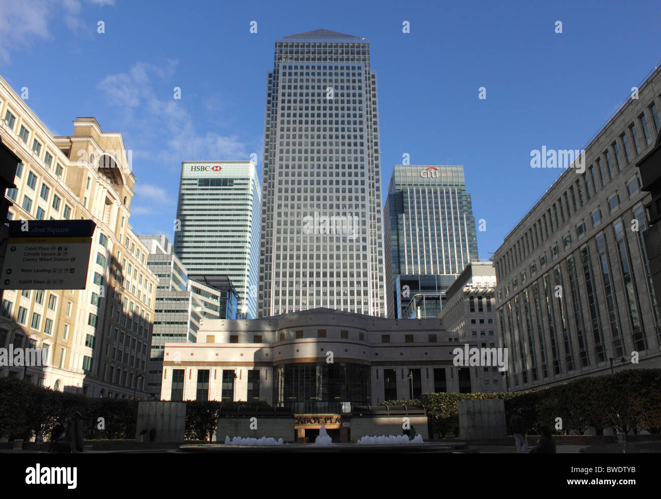 Cabot Place at Canary Wharf Docklands London Stock Photo
