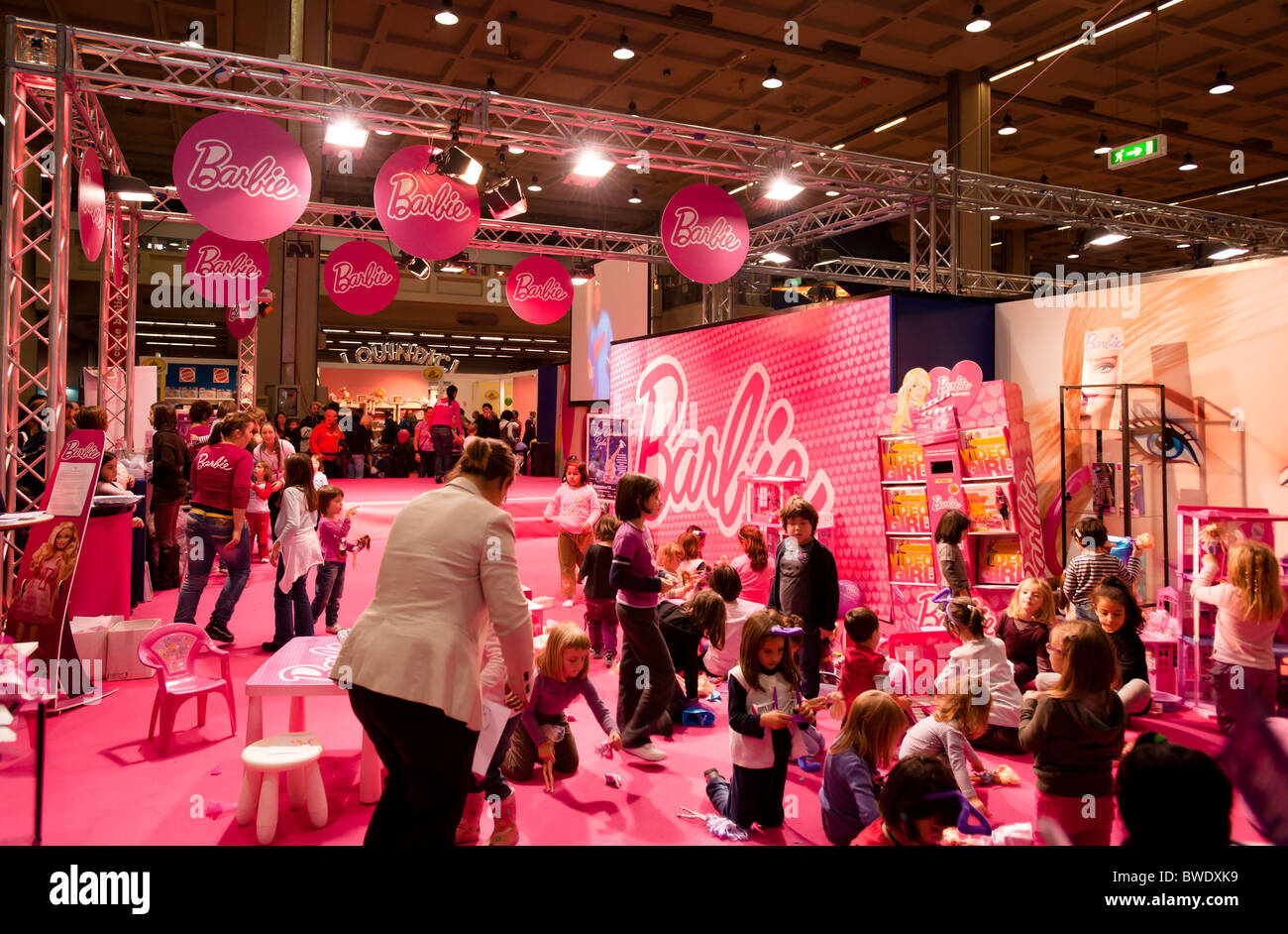 images Inside The Barbie Exhibition In Milan