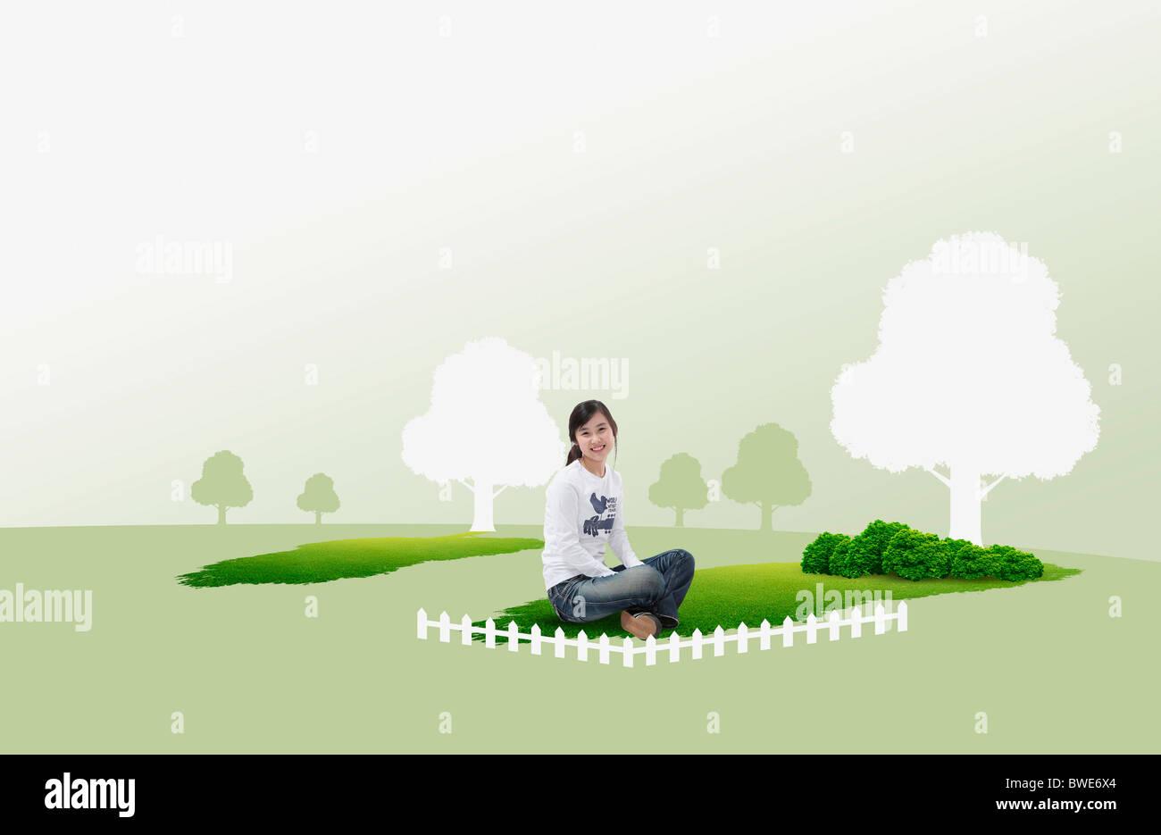 hopeful eco friendly - Stock Image