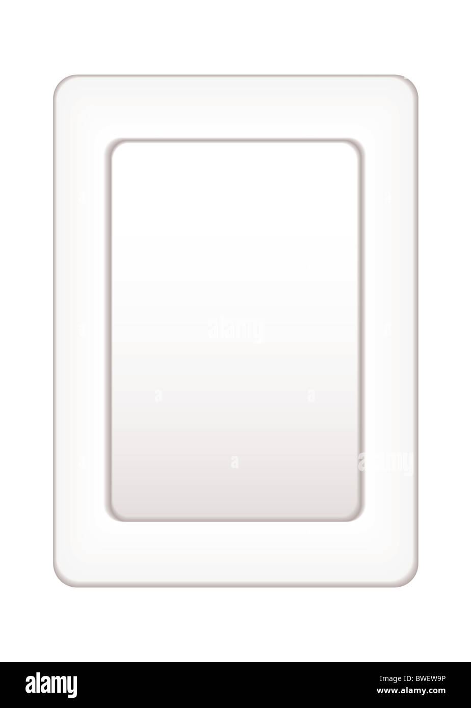 White plain picture frame with mirror or room for text - Stock Image