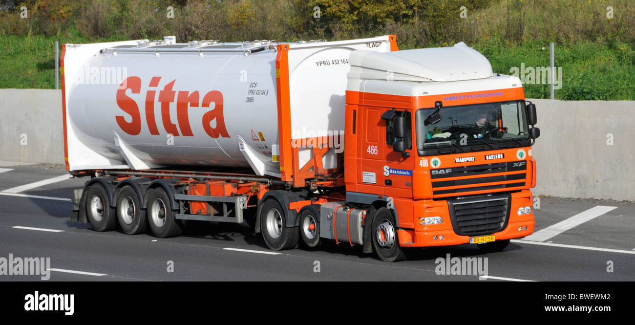 Sitra lorry and bulk tanker container trailer - Stock Image