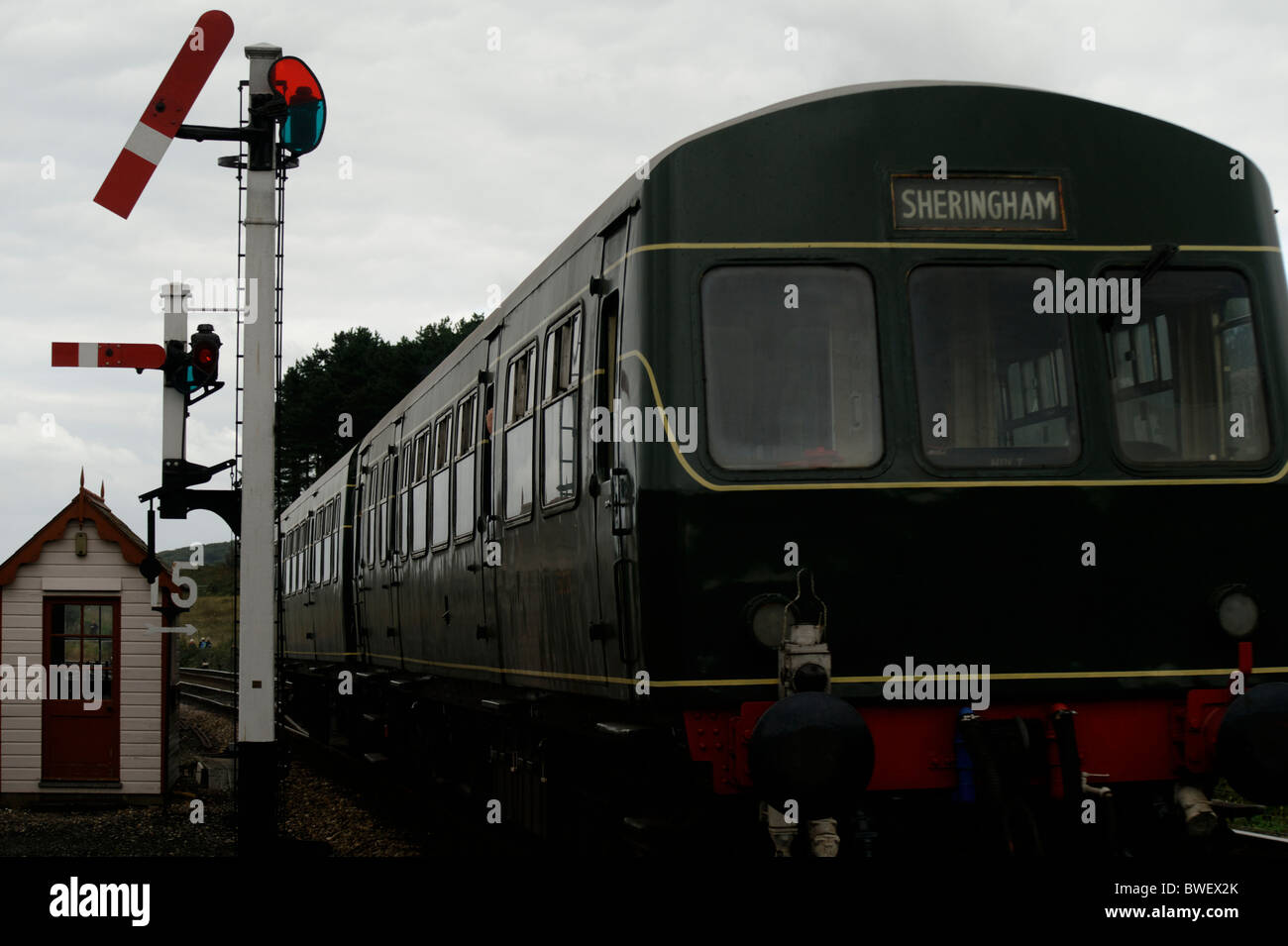 DMU class 101 no:101681 leaving Weybourne for Sheringham North Norfolk Railway September 2010 - Stock Image