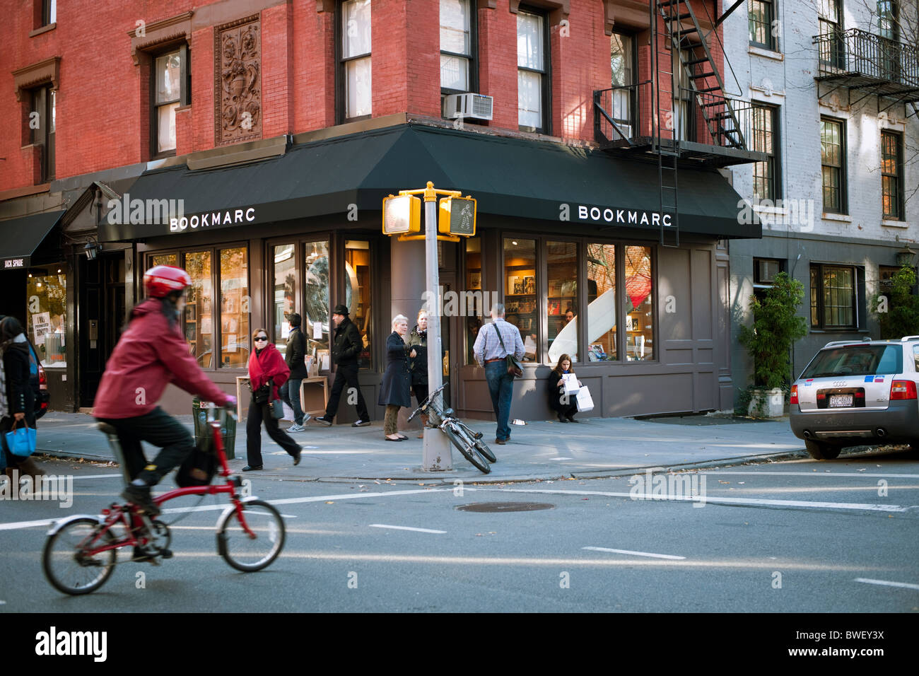 Upscale retail stores and businesses, including designer Marc Jacobs  bookstore, BookMarc in Greenwich Village 5cea2aed75a2