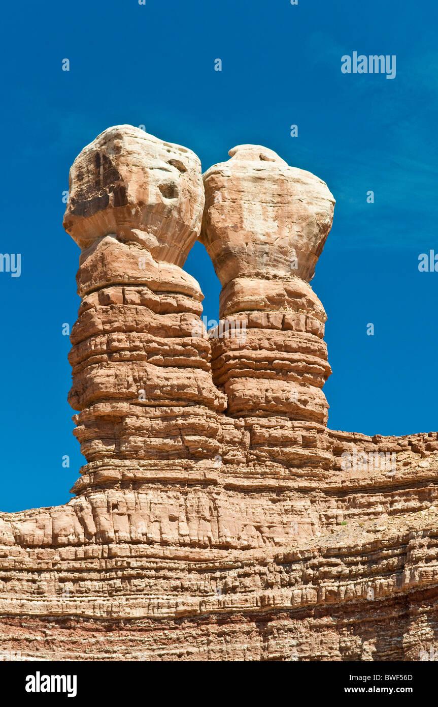 Twin Rocks, Bluff, Northern Utah, USA - Stock Image
