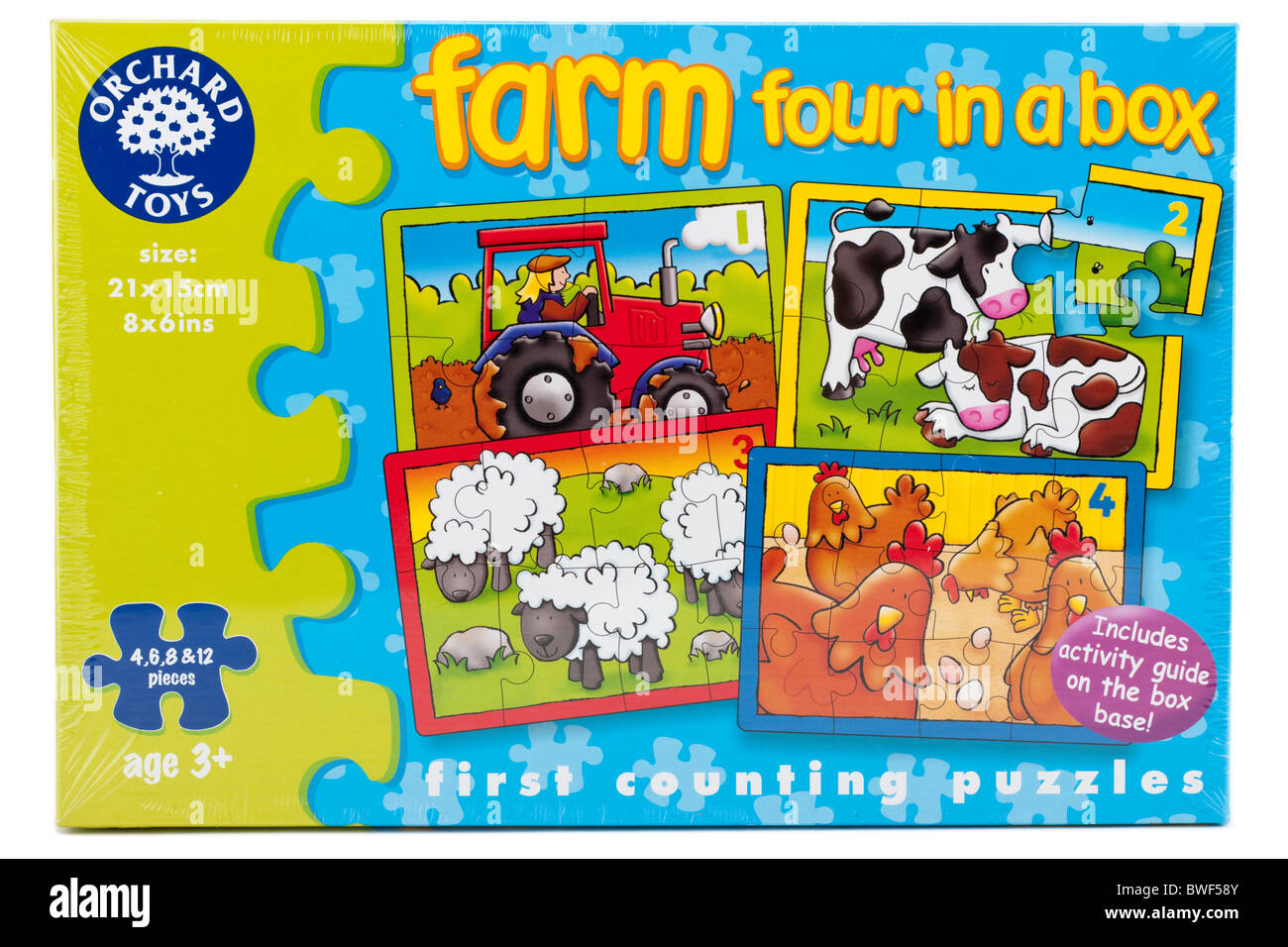 Orchard Toys boxed 'first counting jigsaw puzzle' 'Farm four in a box' Editorial Only - Stock Image
