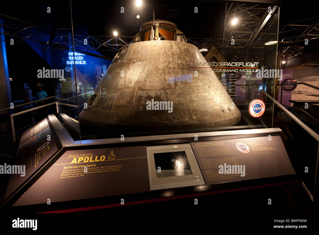 Apollo 8 Command Module, Museum of Science and Industry, Chicago, USA - Stock Image