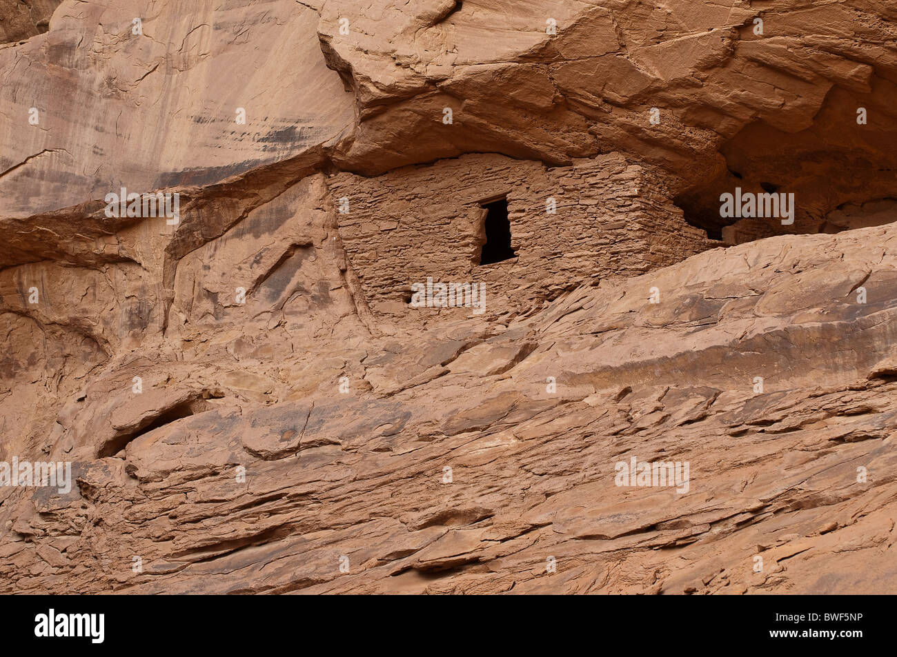 THE LONG HOUSE, about 1500 year old ruin of Native American Indians, Mystery Valley, Arizona, USA - Stock Image