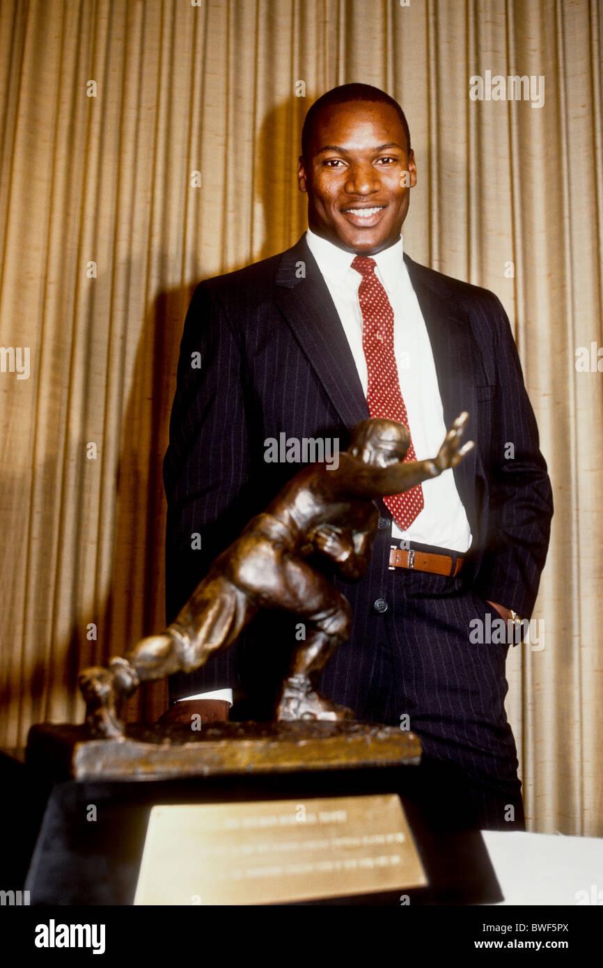 Bo Jackson winner of the 1985 Heisman Trophy. - Stock Image