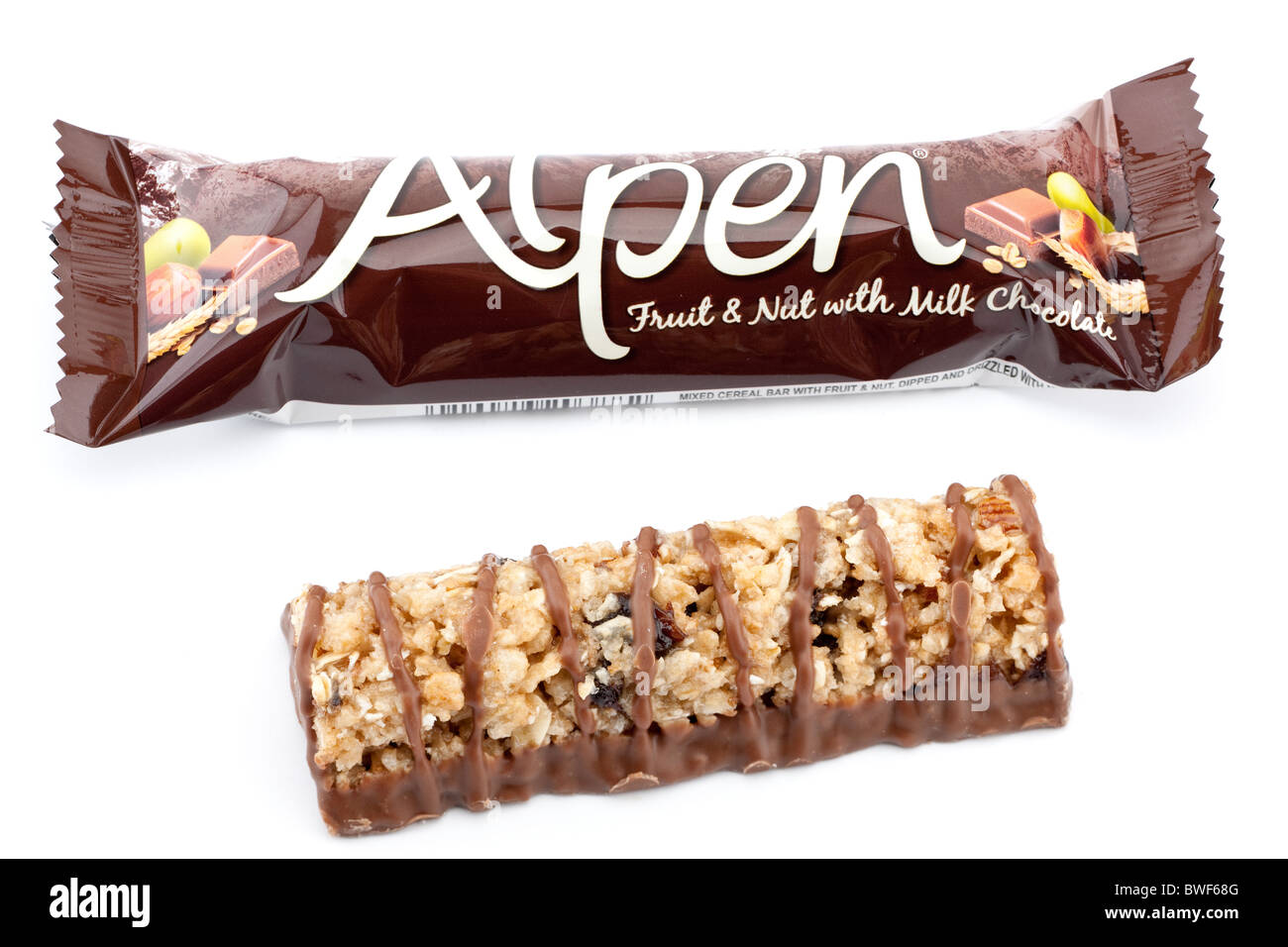 Alpen fruit and nut chocolate bar - Stock Image