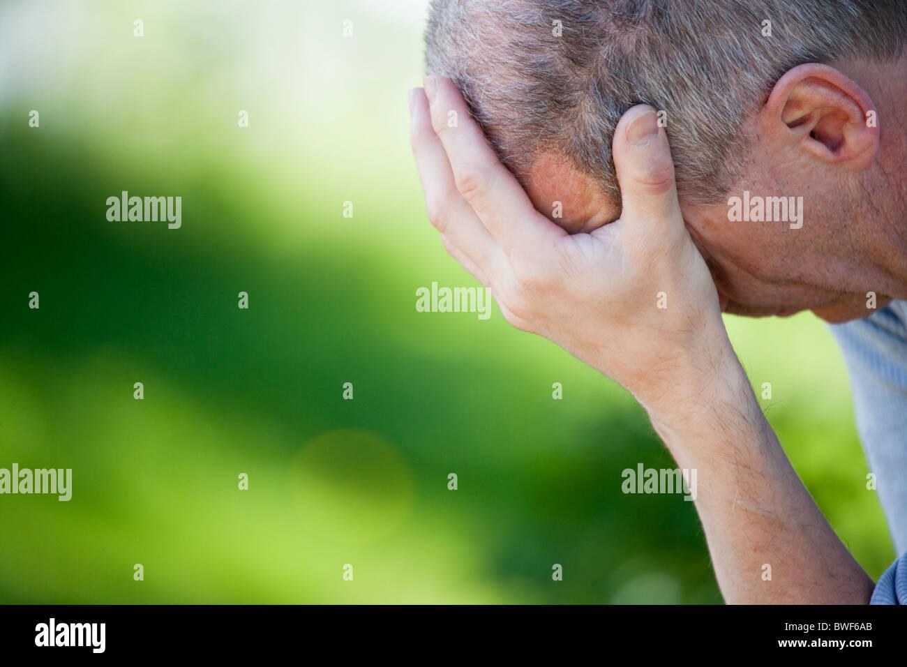 Depressed man.Sweden - Stock Image