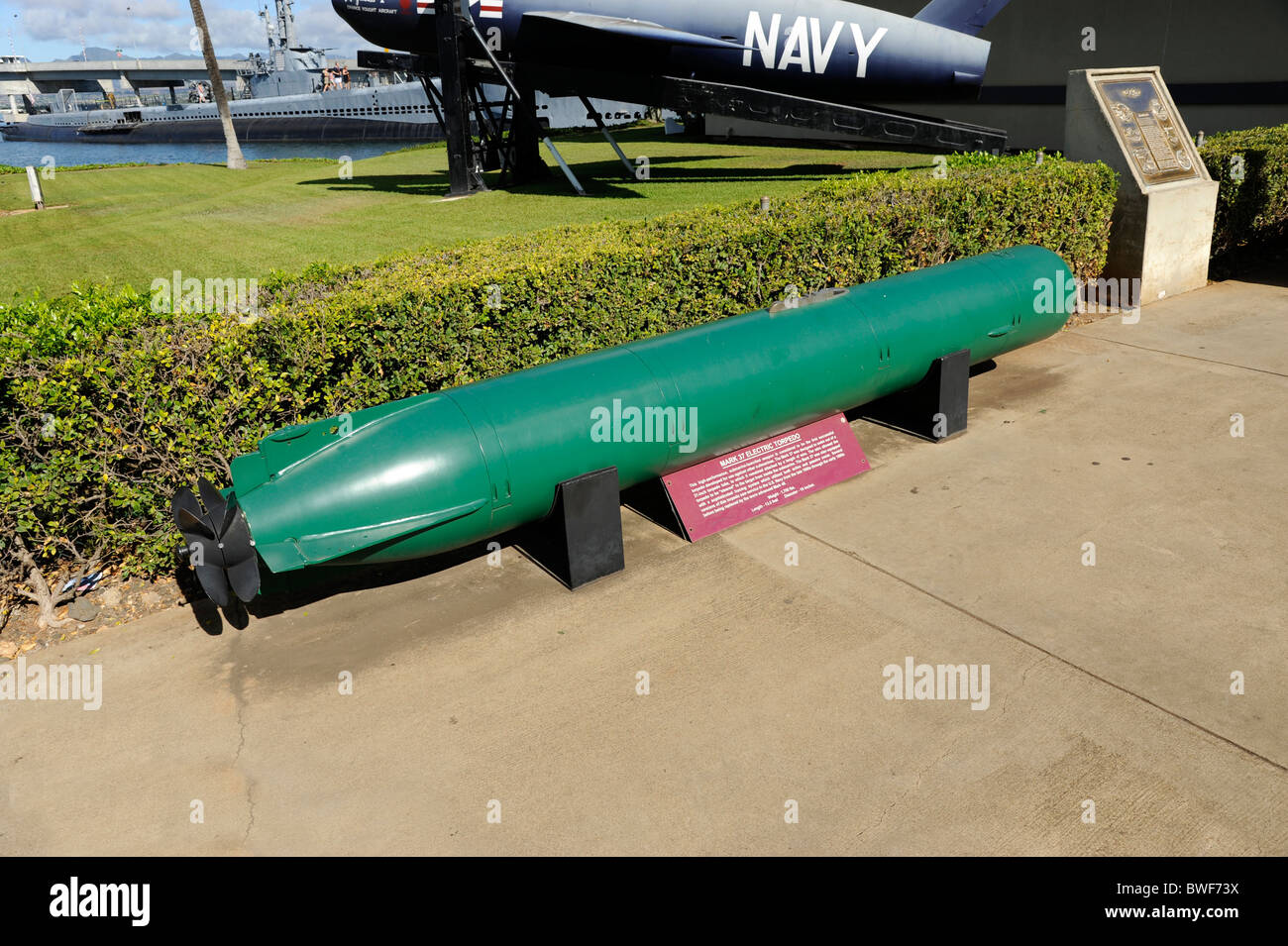 Mark 37 Electric Torpedo on display at Pearl Harbor Pacific ...