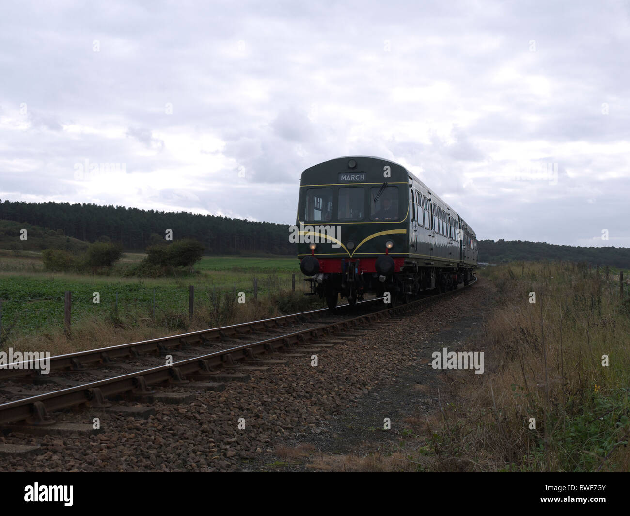 DMU class 101 no:101681 on the North Norfolk Railway September 2010 - Stock Image
