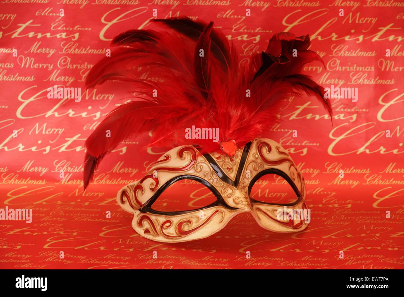 ddd421acb475 Christmas masquerade party mask studio Stock Photo: 32912162 - Alamy