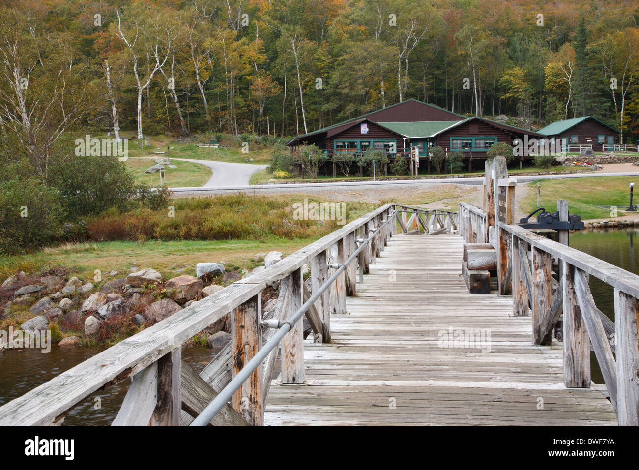 Crawford Notch State Park - Willey House Historical Site in the White Mountains, New Hampshire USA. Stock Photo