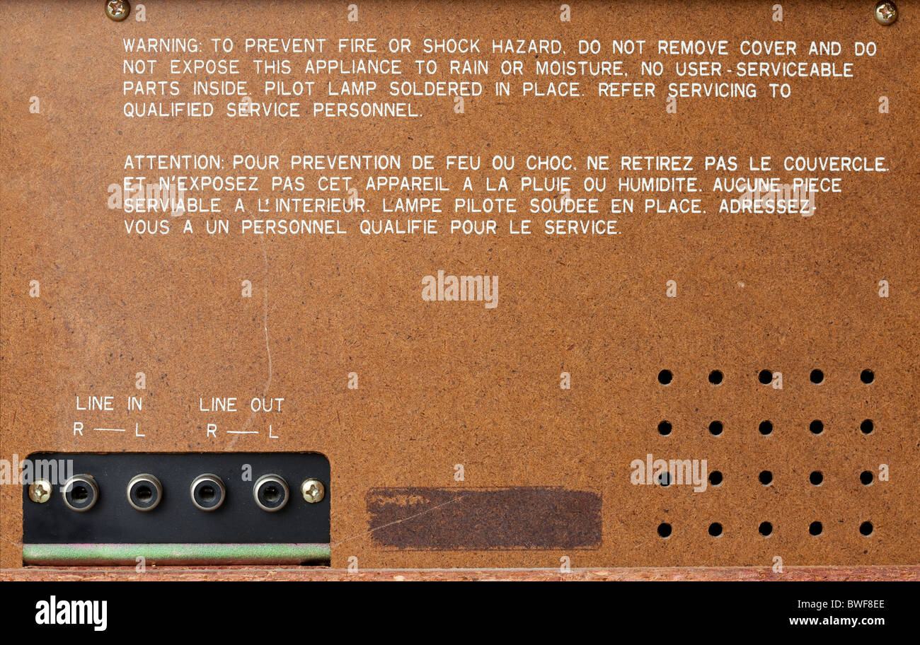 old radio back - design template Stock Photo: 32912726 - Alamy