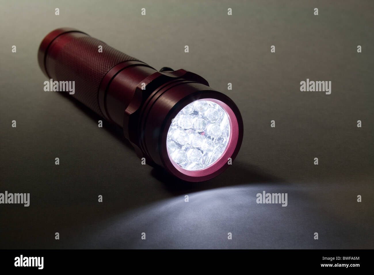 White LED - Light Emitting Diode Flashlight Stock Photo