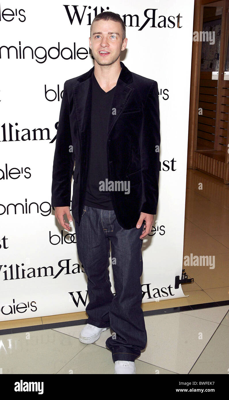 38b6b83552d Launch of Justin Timberlake's William Rast Clothing Line Stock Photo ...