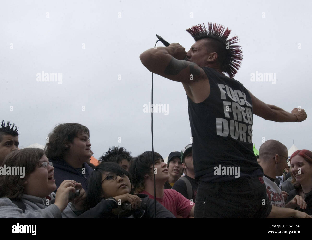 Vans Warped Tour Concert - Seaside Park - Stock Image