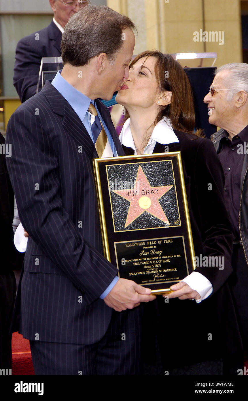 Star on the Hollywood Walk of Fame for Jim Gray - Stock Image