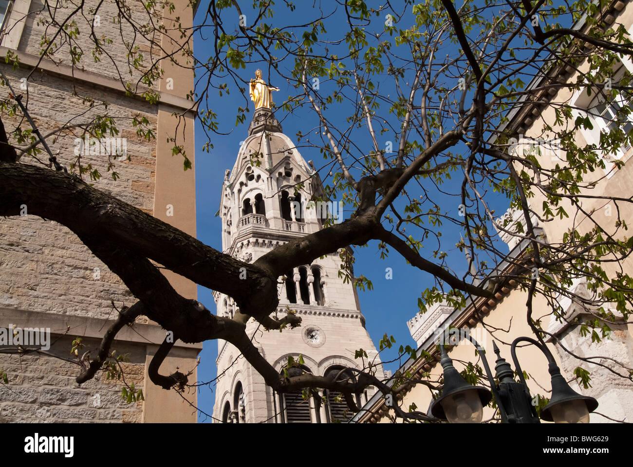 Basilica Notre-Dame de Fourvière, Vieux Lyon district, France Stock Photo