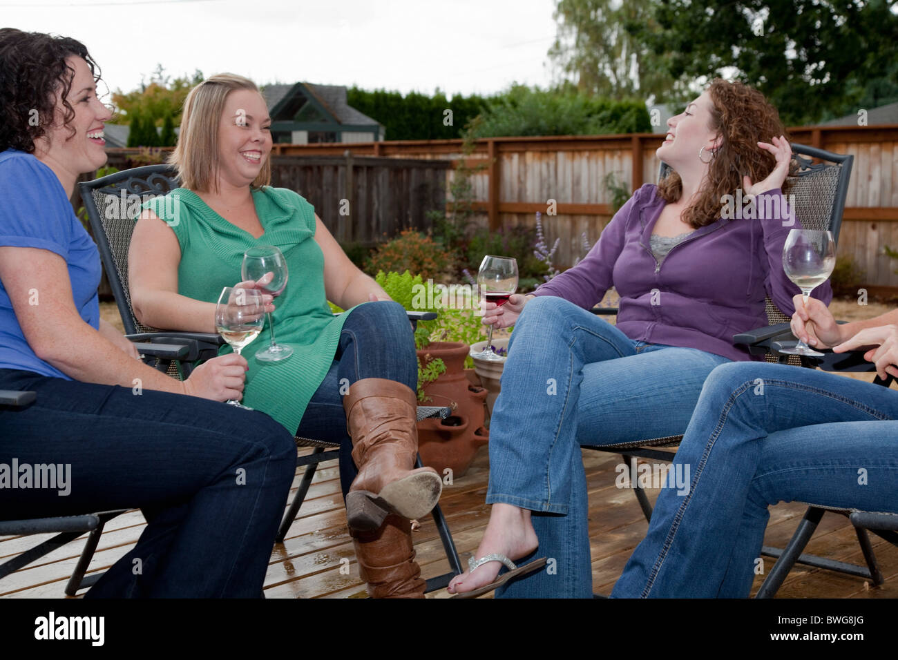 30 year old Girlfriends get together - Stock Image