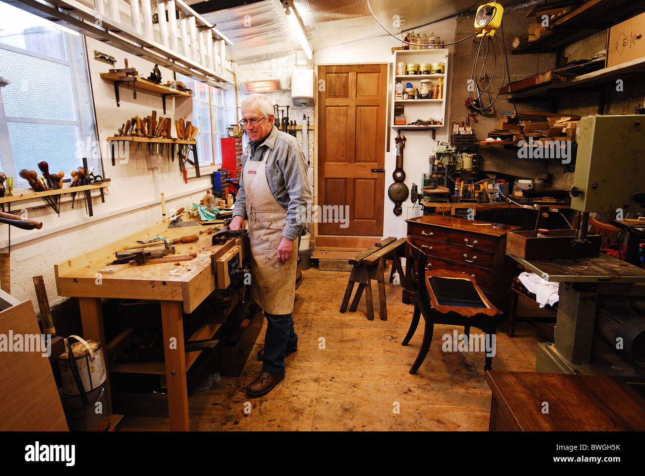 Superb An Experienced Cabinet Maker With All His Tools At Work In Andrewgaddart Wooden Chair Designs For Living Room Andrewgaddartcom