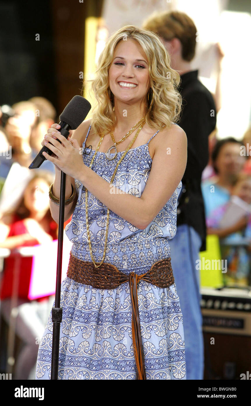 Nbc Today Show Concert With American Idol Carrie Underwood Stock