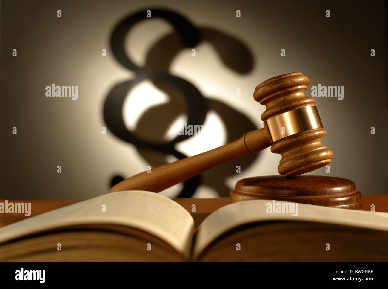 Gavel and a section symbol - Stock Image