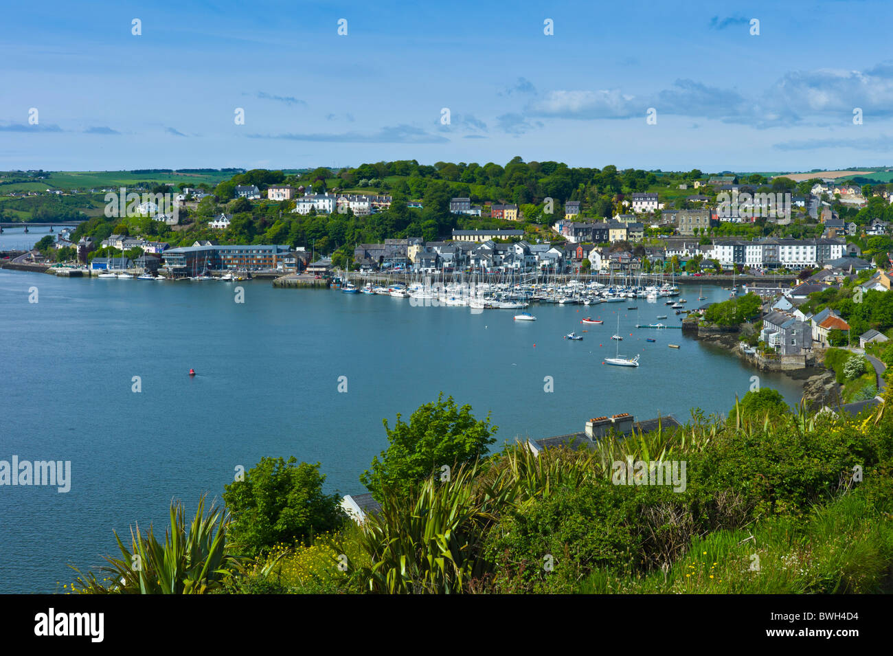 Popular tourist destination Kinsale harbour from Scilly, County Cork, Ireland - Stock Image