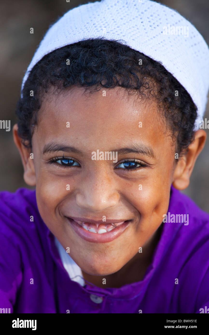 Muslim boy, Lamu Island, Kenya Stock Photo