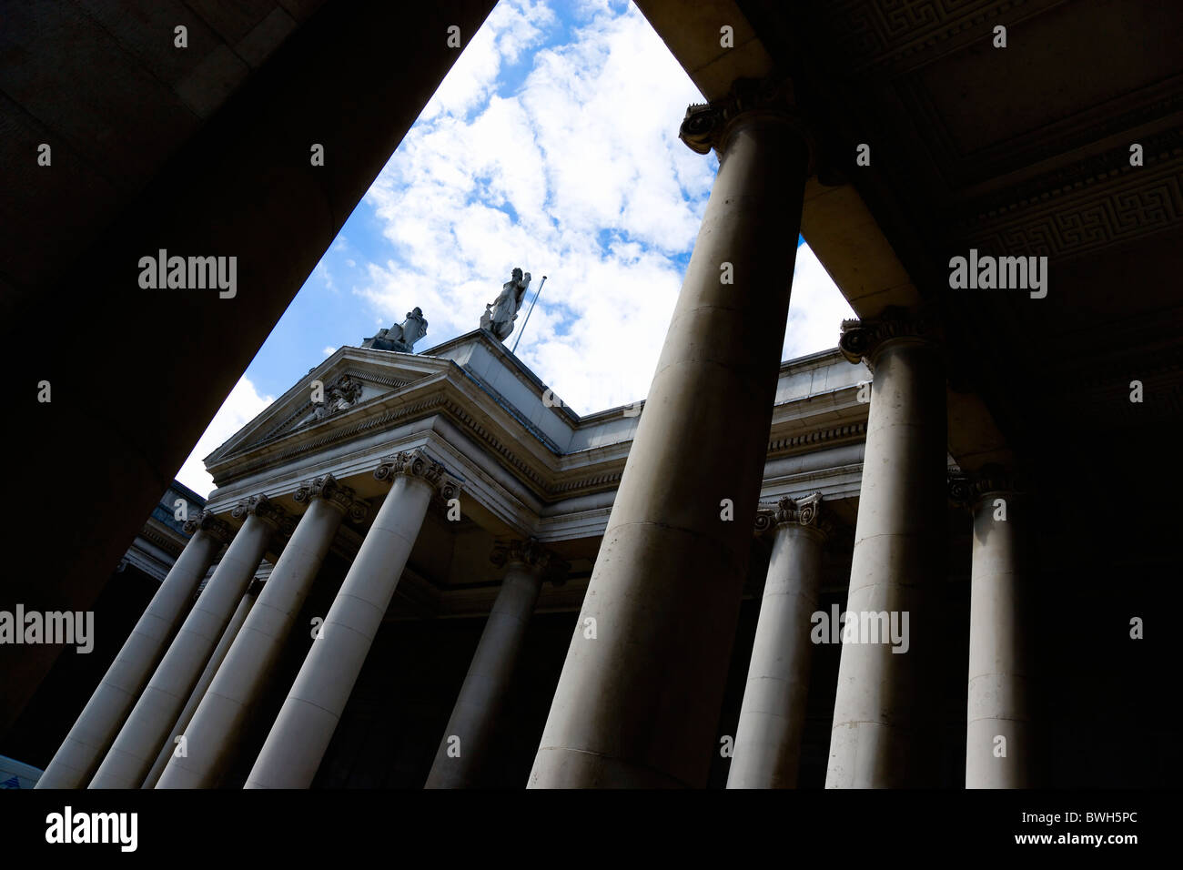 Ireland, County Dublin, Dublin City, The 18th Century Bank Of Ireland building in College Green - Stock Image