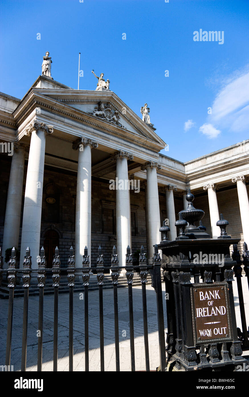 Ireland County Dublin Dublin City The 18th Century Bank Of Ireland building in College Green - Stock Image