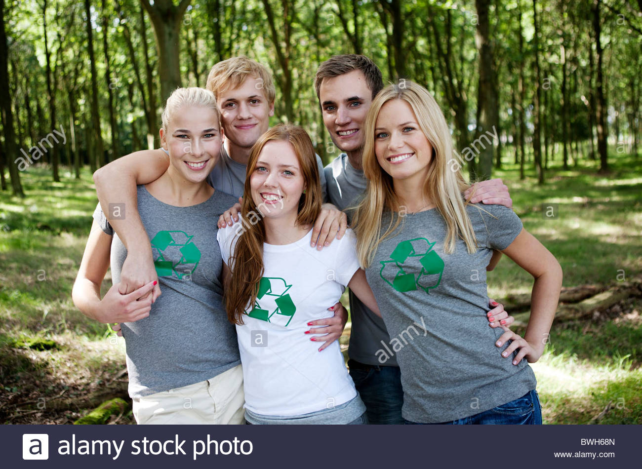 Young persons posing for a group image - Stock Image