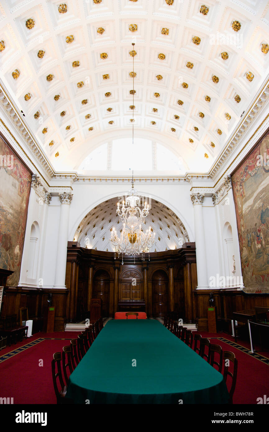 Ireland County Dublin City The Original House of Lords chamber in the 18th Century Bank Of Ireland building in College - Stock Image