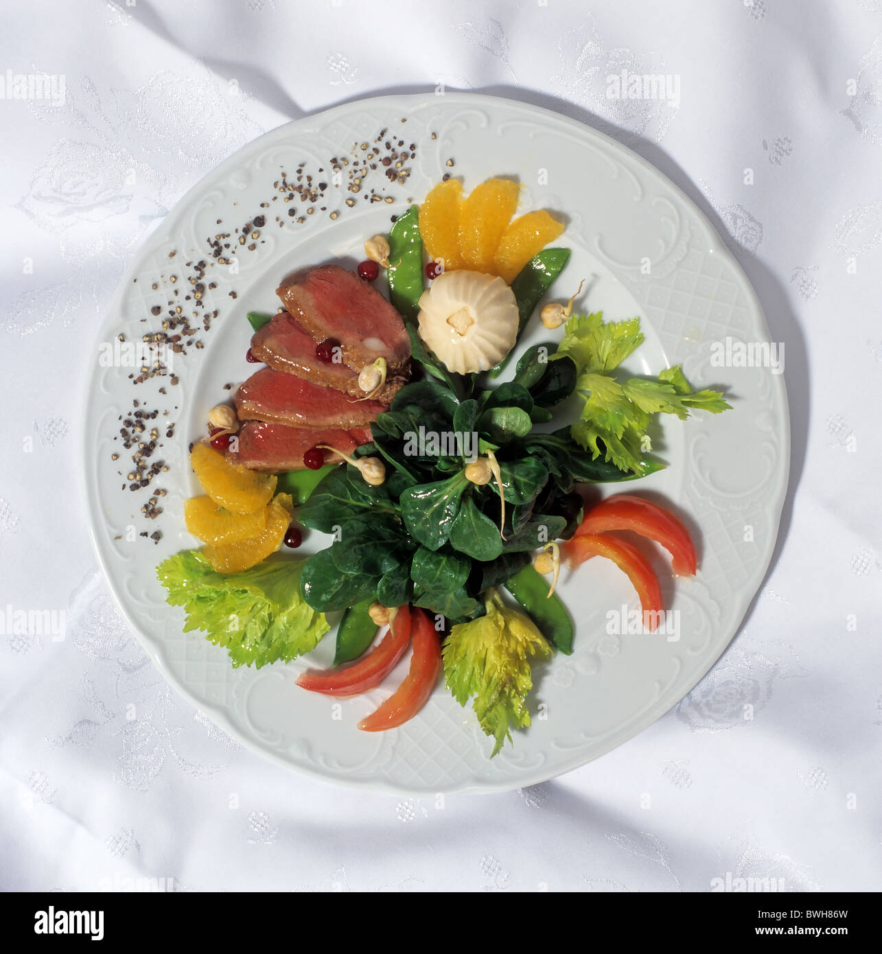Haute Cuisine: Low-calorie Gourmet Dish à La Haute Cuisine With Delicate