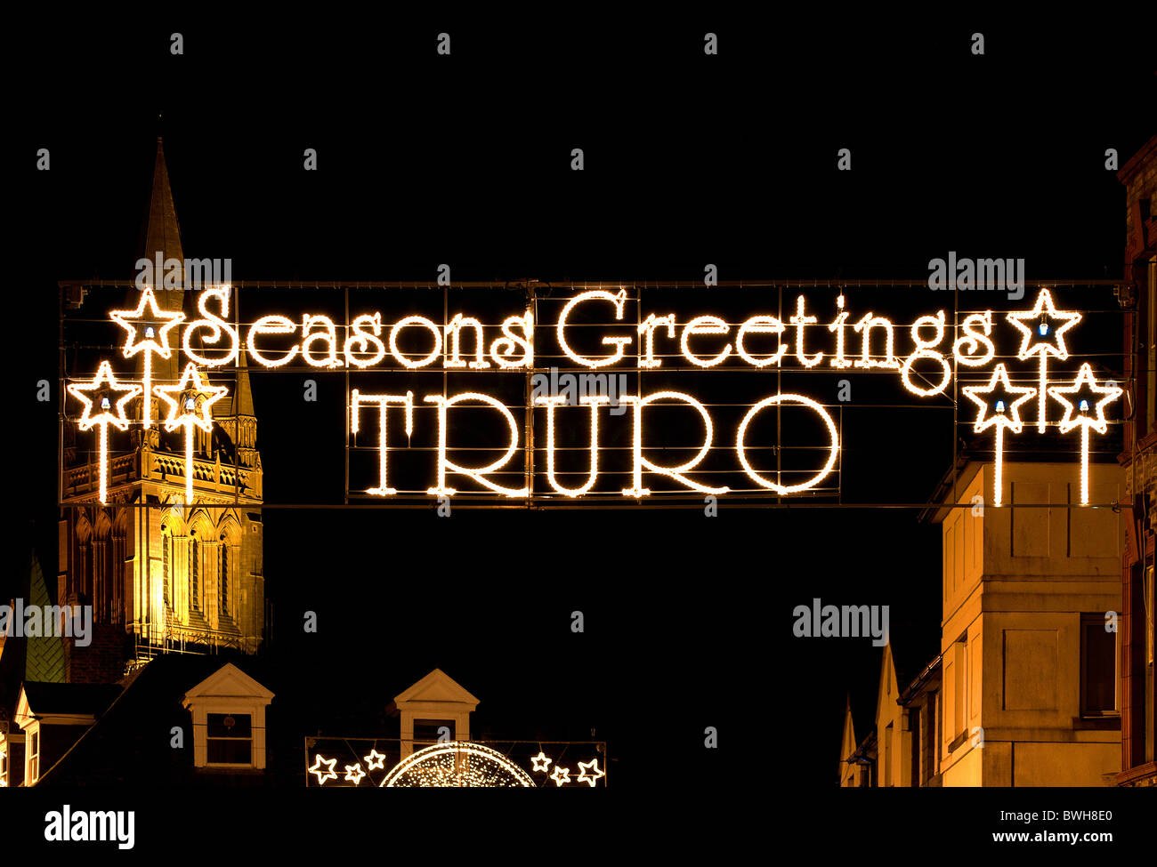 Christmas lights in Truro, Cornwall, Uk Stock Photo: 32956616 - Alamy