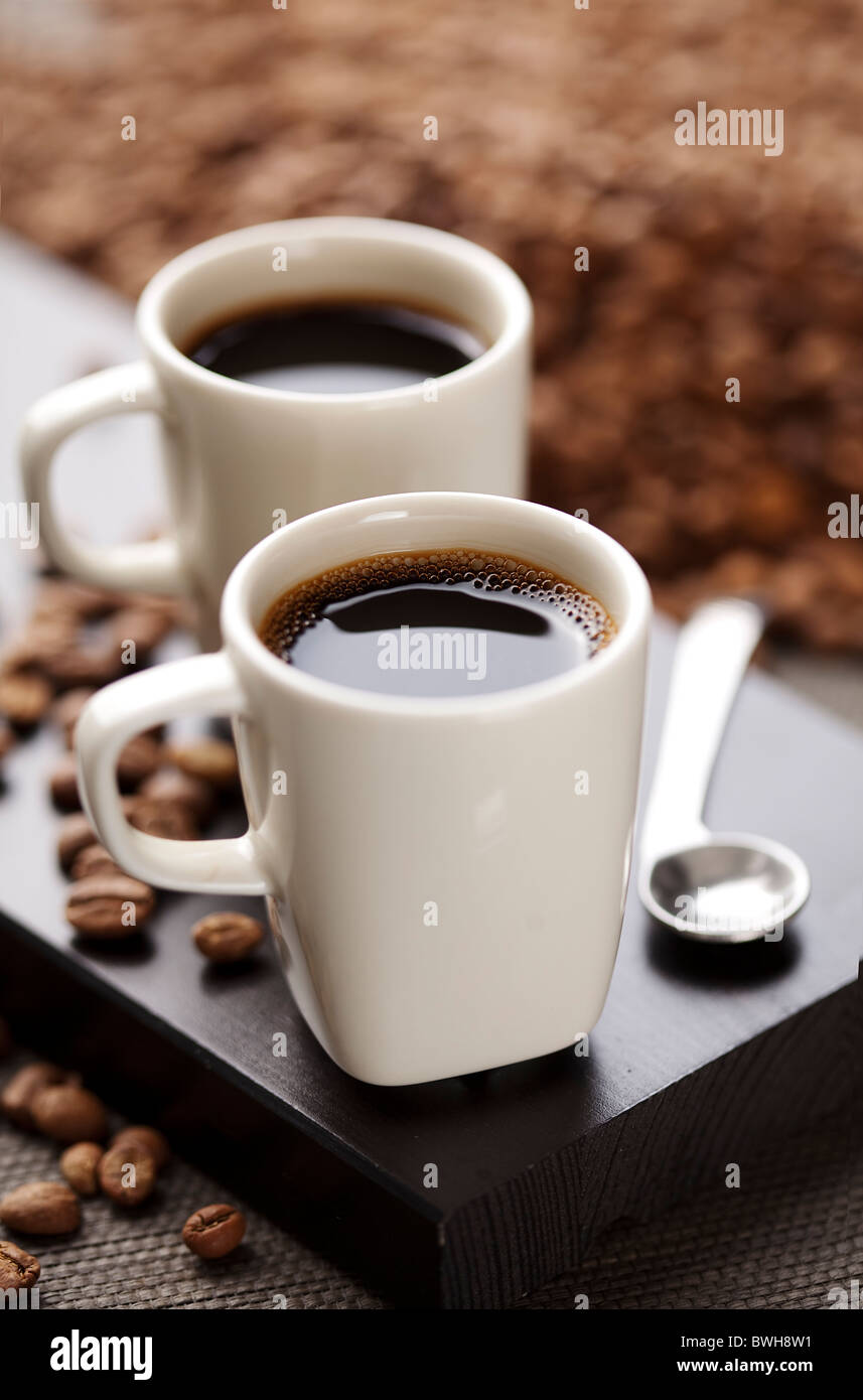 stylish coffee setup - Stock Image