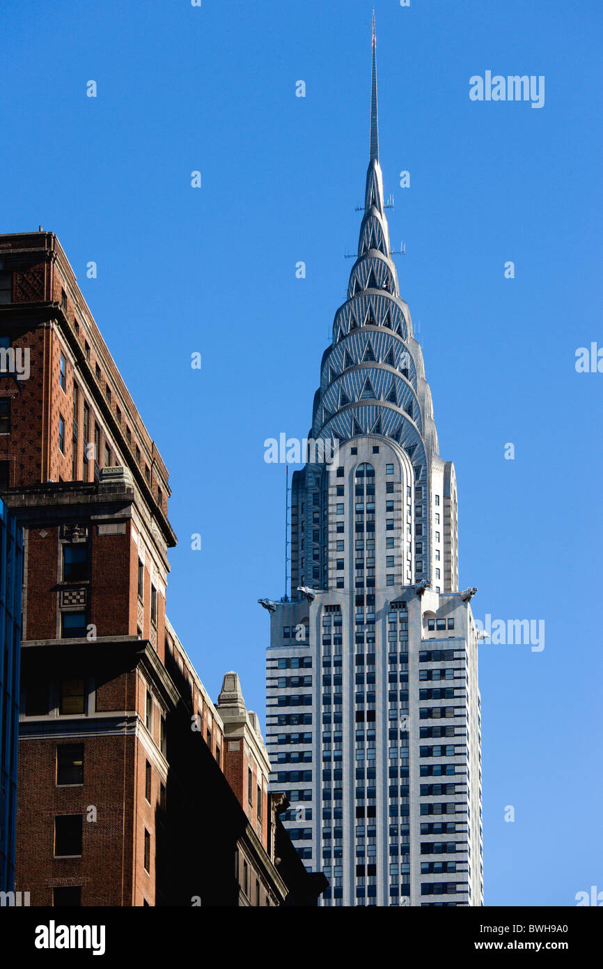USA, New York, NYC, Manhattan, The Art Deco Chrysler Building on 42nd Street in Midtown. - Stock Image