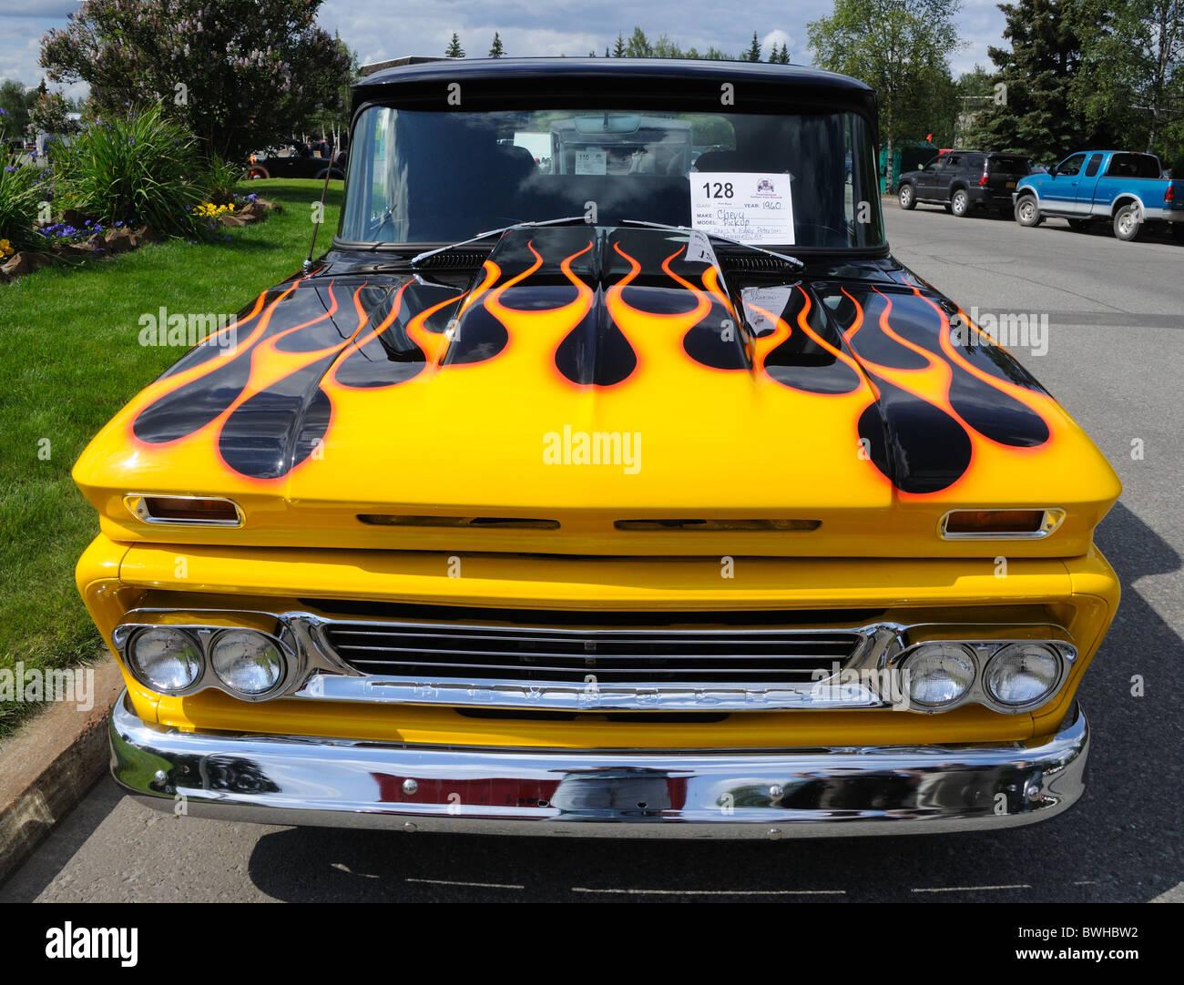 Truck chevy 1960 truck 1960 Chevy Pickup, 2010 Alaska Midnight Sun Cruise-In Auto Show ...