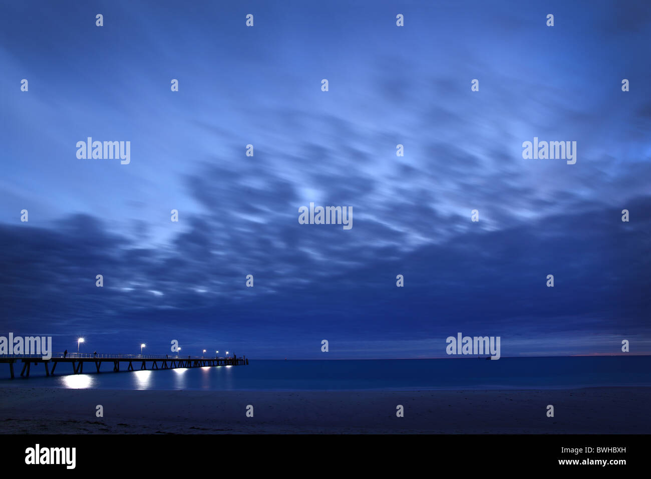 Sunset at Glenelg, South Australia - Stock Image