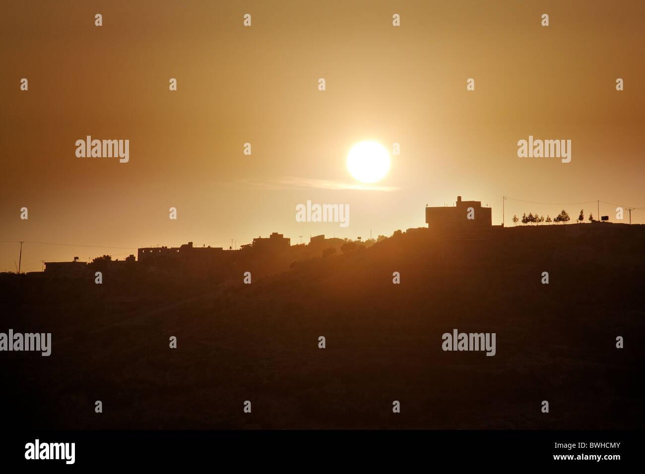 A palestinan village on a hill - Stock Image