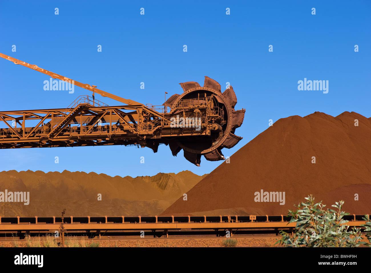 Iron Ore mining Pilbara Western Australia - Stock Image