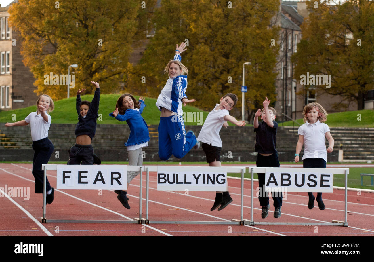 Commonwealth silver medallist Eilidh Child and British Lions rugby legend launch Safeguarding in Sport - Stock Image