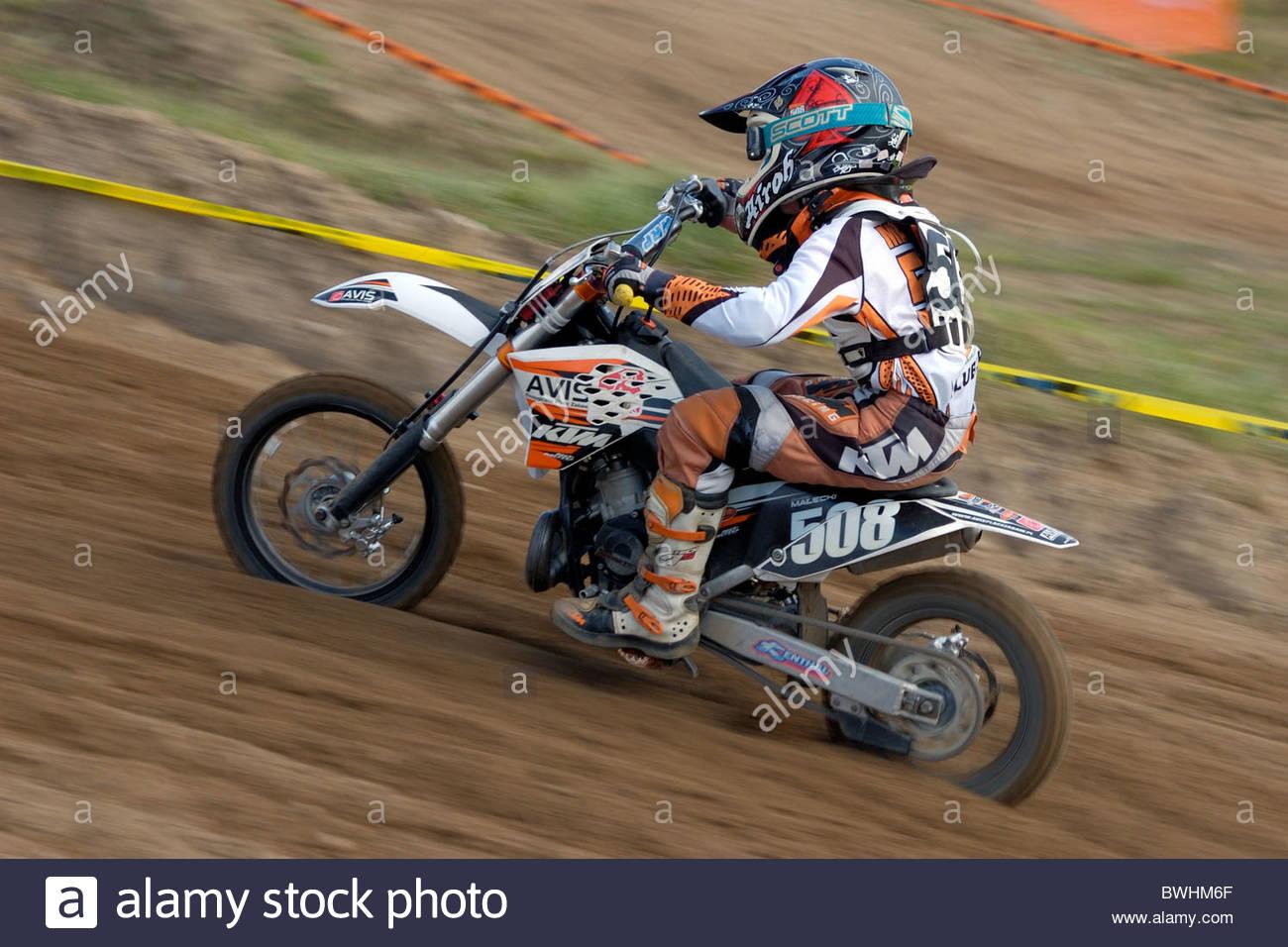 2010 Motocross Championship Czluchow, Poland. September 19 - Stock Image