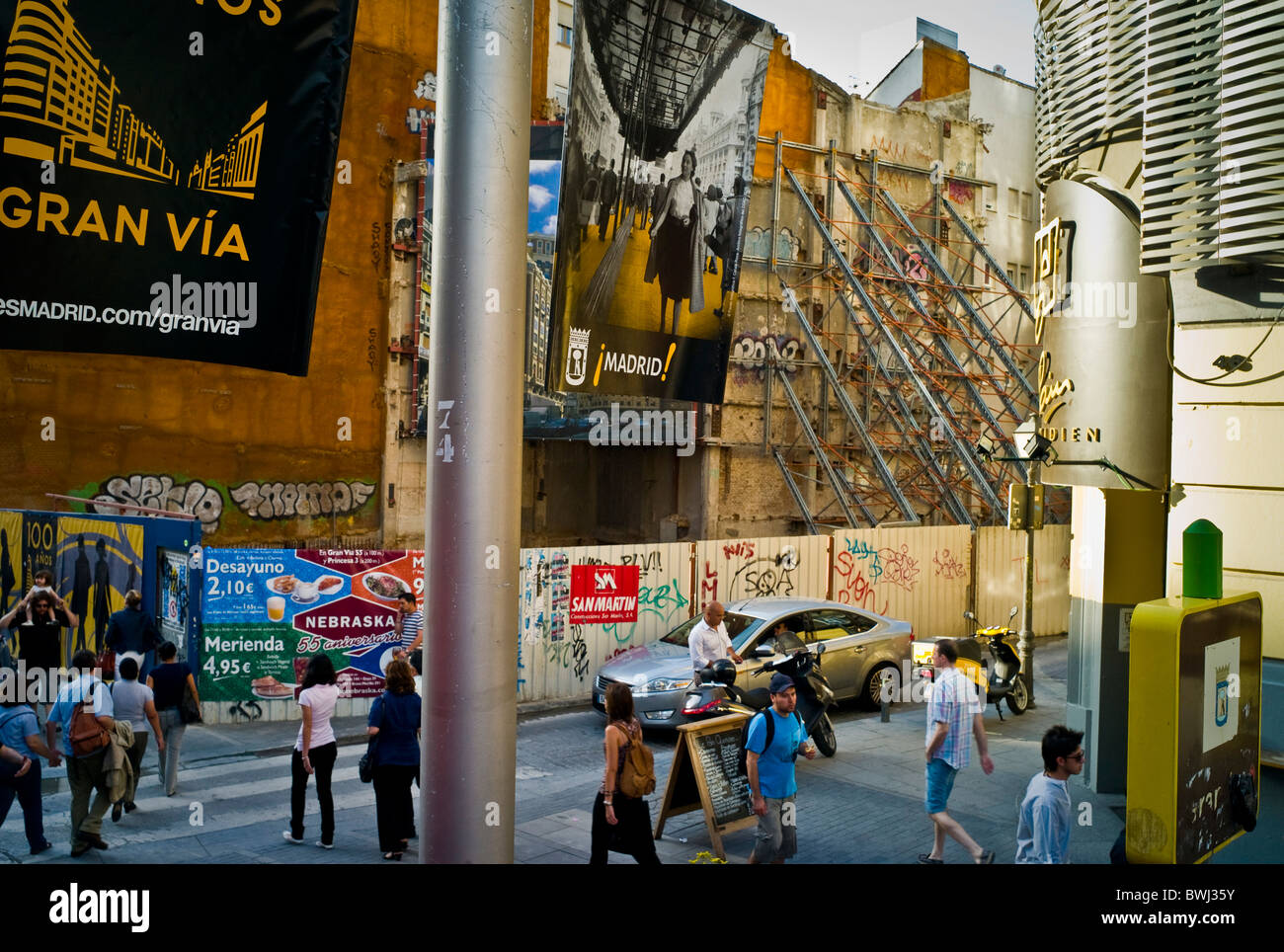 A street scene in Madrid - Stock Image