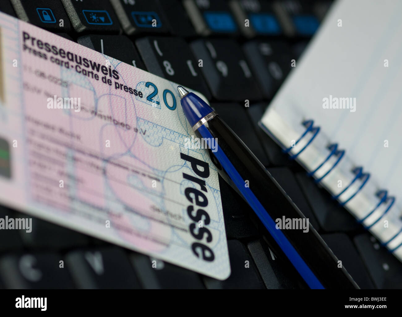 Press card - Stock Image